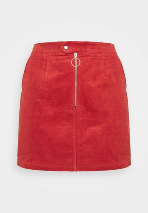 MINI SKIRT - Mini skirt - burnt orange