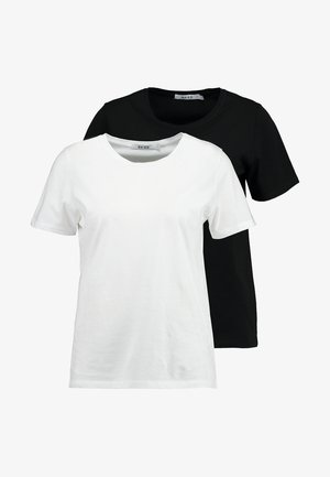CREW TEE 2 PACK - Basic T-shirt - black/white