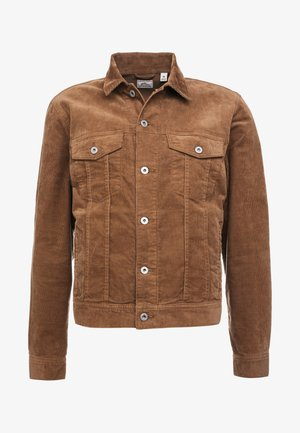 CORDUROY TRUCKER JACKET - Summer jacket - saddle brown