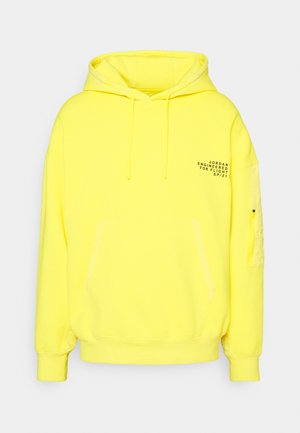 WASHED HOODY - Bluza z kapturem - opti yellow/black