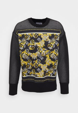 PRINT FABRIC - Jumper - black/gold