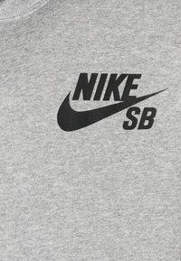 Nike SB - ICON HOODIE UNISEX - Hoodie - grey heather/black - 5