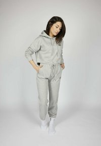 one more story - ICON - Tracksuit bottoms - silver grey melange - 1