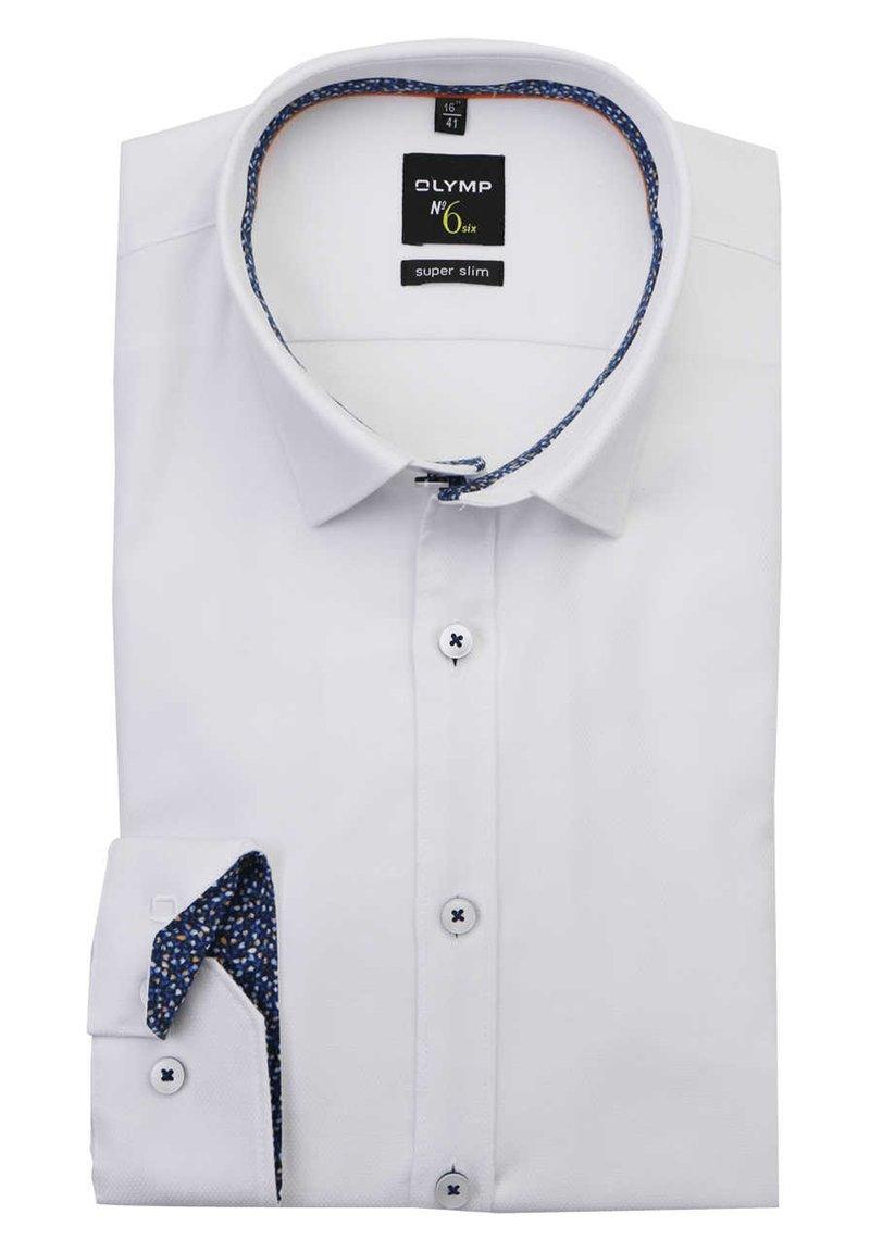 OLYMP - OLYMP NO. SIX SUPER SLIM HEMD LANGARM STRUKTUR WEIFL - Formal shirt - weifl