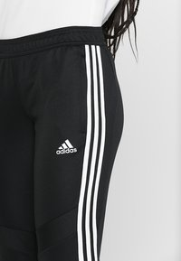 adidas Performance - TIRO AEROREADY CLIMACOOL FOOTBALL PANTS - Tracksuit bottoms - black/white - 3