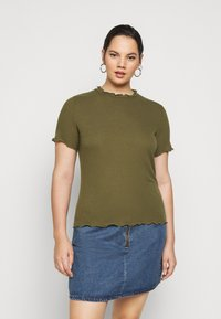 Vero Moda Curve - VMBREA - Print T-shirt - fir green - 2