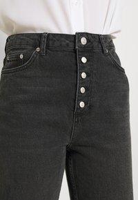 NA-KD - BUTTON CLOSURE - Straight leg jeans - grey - 3