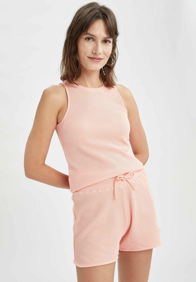 DeFacto - REGULAR FIT DEFACTO WOMAN TOP - Top - pink