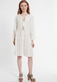 Ana Alcazar - Day dress - offwhite - 1