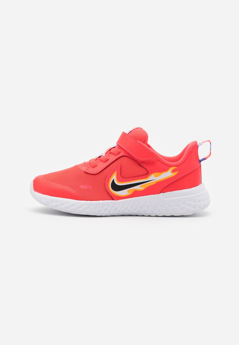 Nike Performance - REVOLUTION 5 FIRE - Laufschuh Neutral - laser crimson/dark smoke grey/optic yellow