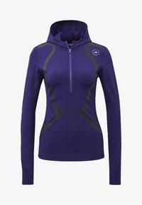 adidas by Stella McCartney - TRUEPACE HOODED LONG SLEEVE MIDLAYER TOP - Bluza z kapturem - purple - 6