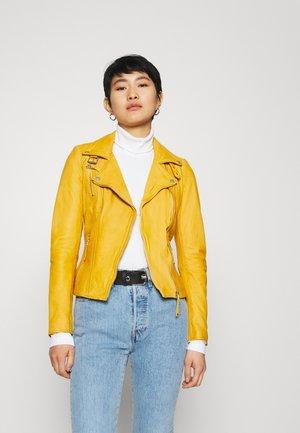 BIKER PRINCESS - Leather jacket - halo yellow