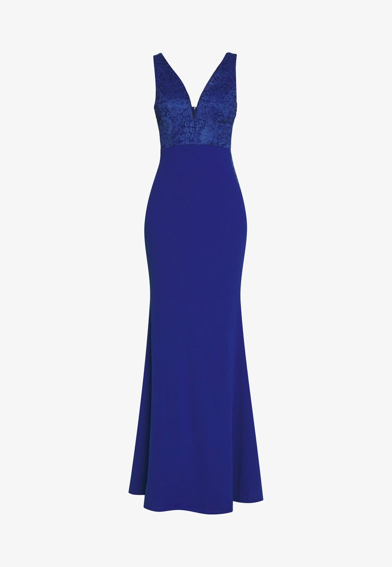 WAL G. SLEEVLESS VNECK DRESS WITH SIDES - Ballkleid - blue/blau iT8SNB