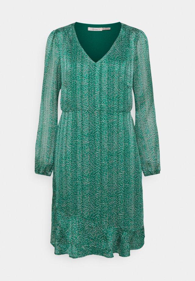 DRESS WHEAT PRINT - Korte jurk - green