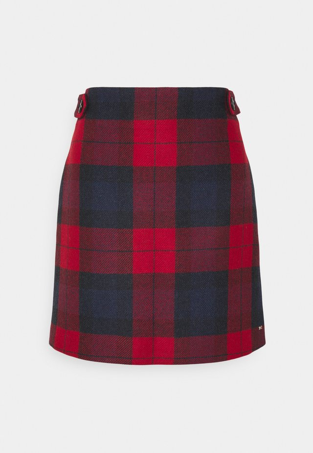 CHECK MINI SKIRT - A-line skirt - primary red
