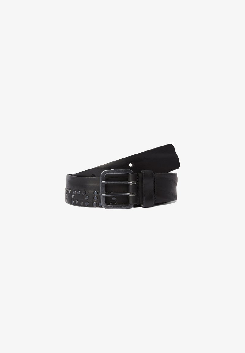 G-Star - RIVET STUD - Belt - dk black/antic copper