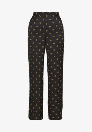 EBBA - Trousers - black print