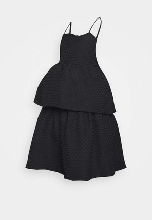 TIEREDWOW STRAPPY OPEN BACK DRESS - Cocktailkjole - black