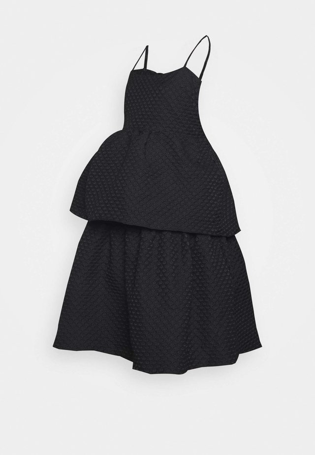 TIEREDWOW STRAPPY OPEN BACK DRESS - Cocktailjurk - black