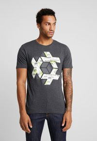 Jack & Jones - ONSABRAHAM FITTED TEE - Print T-shirt - black - 0