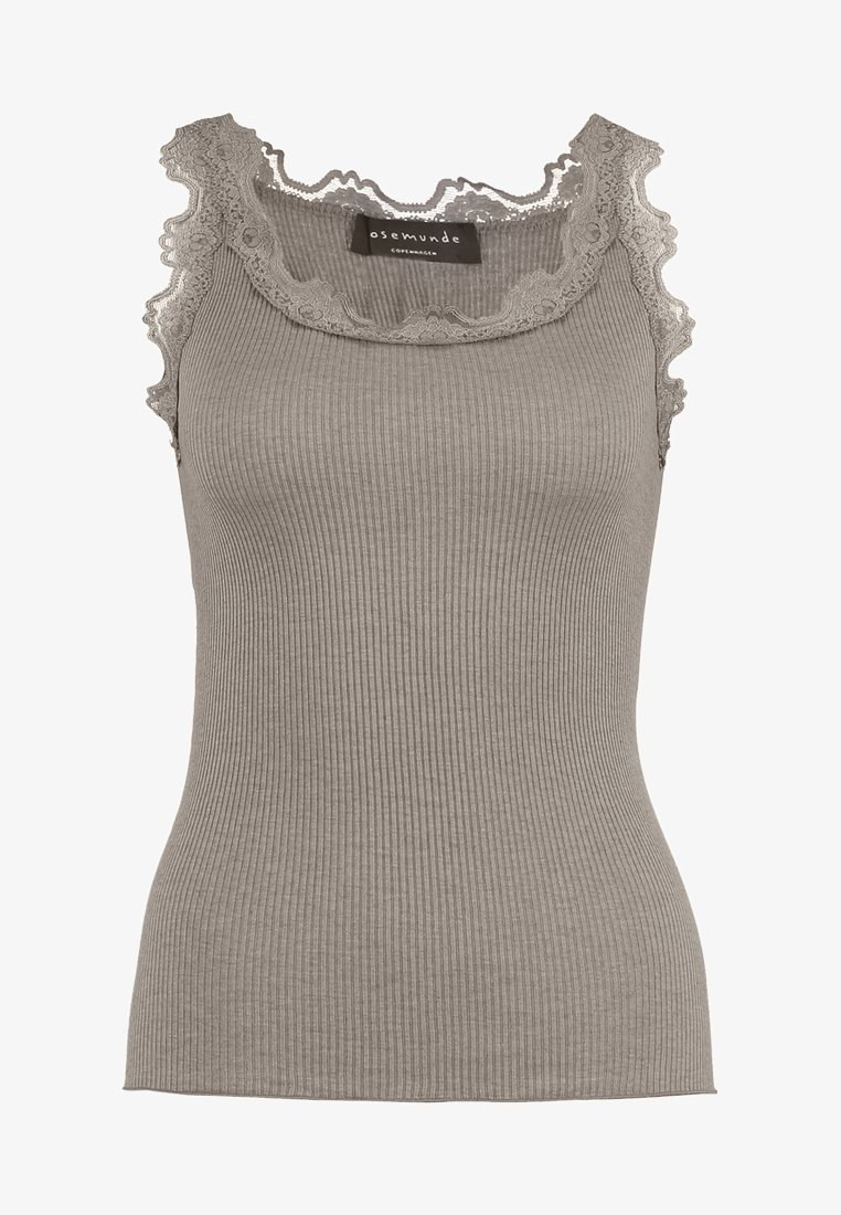 Rosemunde REGULAR VINTAGE - Top - light grey mélange/hellgrau HrPilf