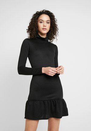 ELLINOR FRILL DRESS - Shift dress - black