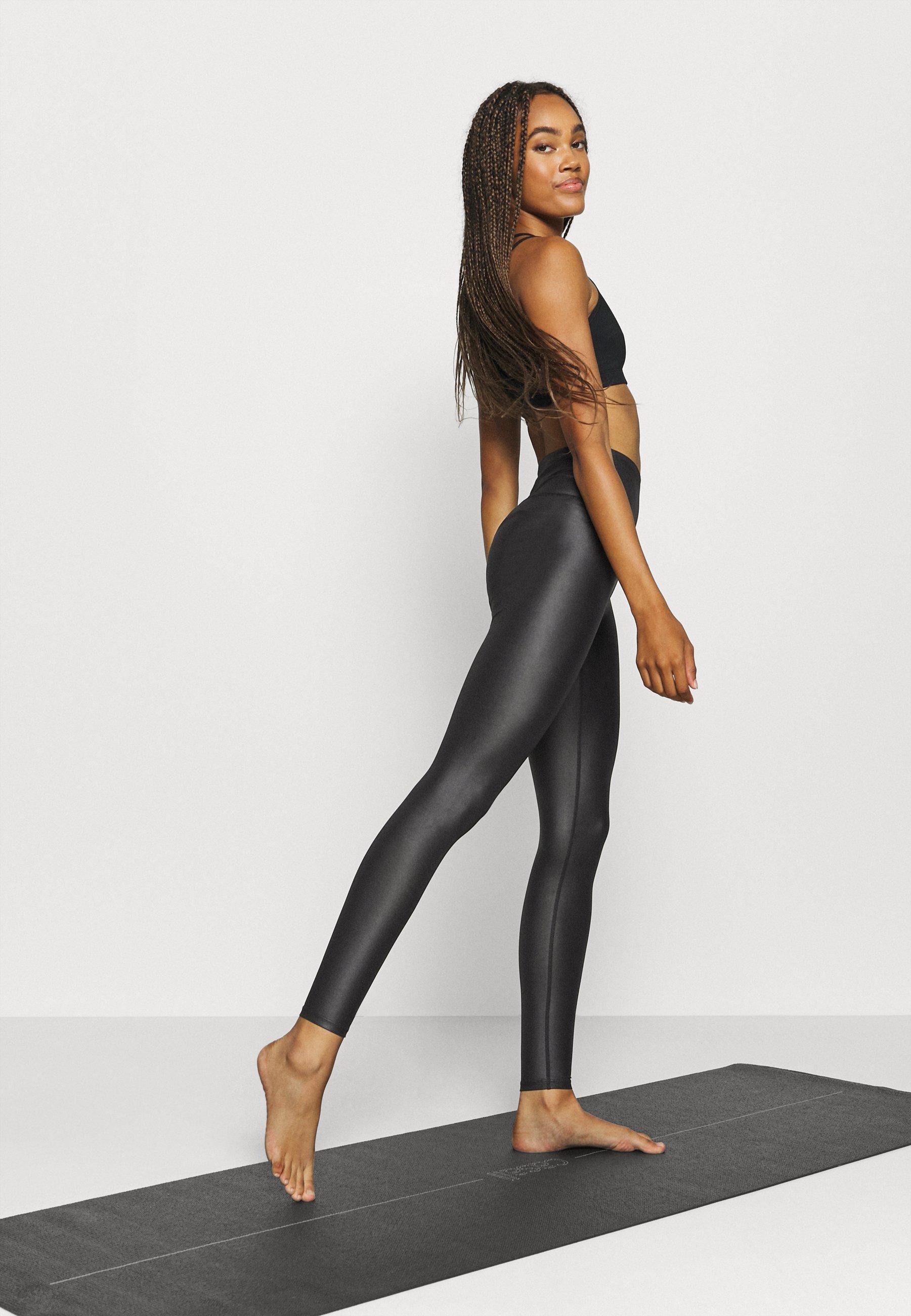 Donna WETLOOK HIGHWAIST LEGGING - Collant