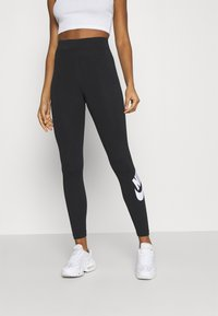 Nike Sportswear - FUTURA - Leggings - black/white - 0