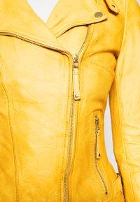 Freaky Nation - BIKER PRINCESS - Leather jacket - halo yellow - 4