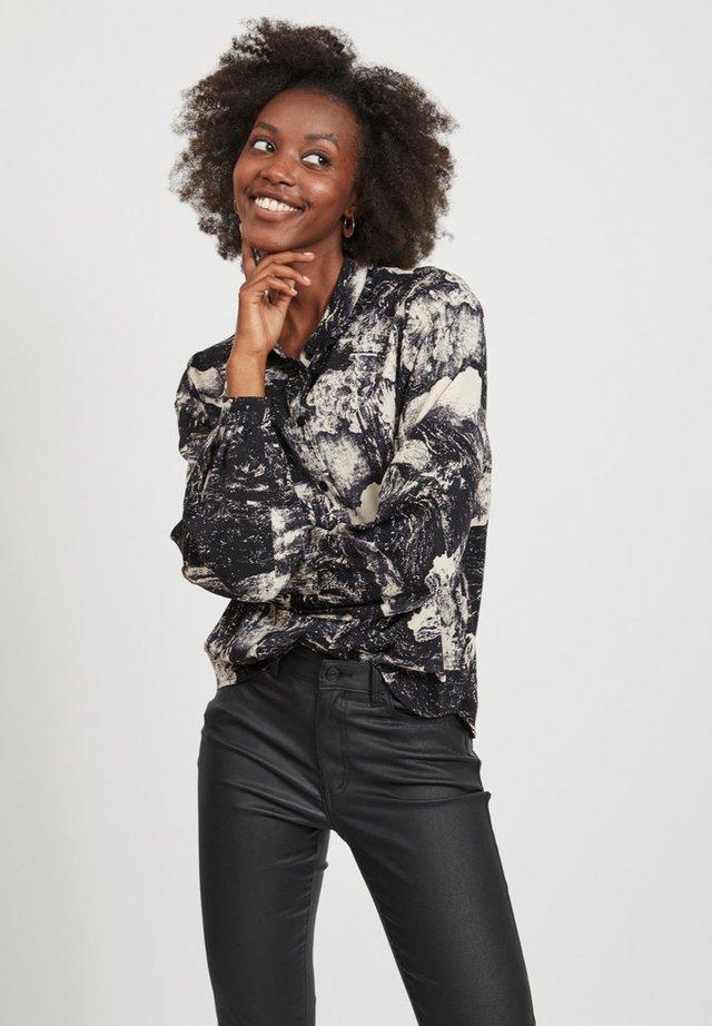 Button-down blouse - sandshell