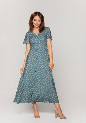 RETRO - Sukienka koszulowa - ciemny turkus