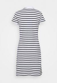 Tommy Hilfiger - STRIPE SLIM DRESS - Day dress - white/desert sky - 1