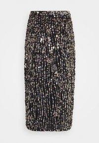MANÉ - ZIA SKIRT - Pencil skirt - black/gold/silver-coloured - 1