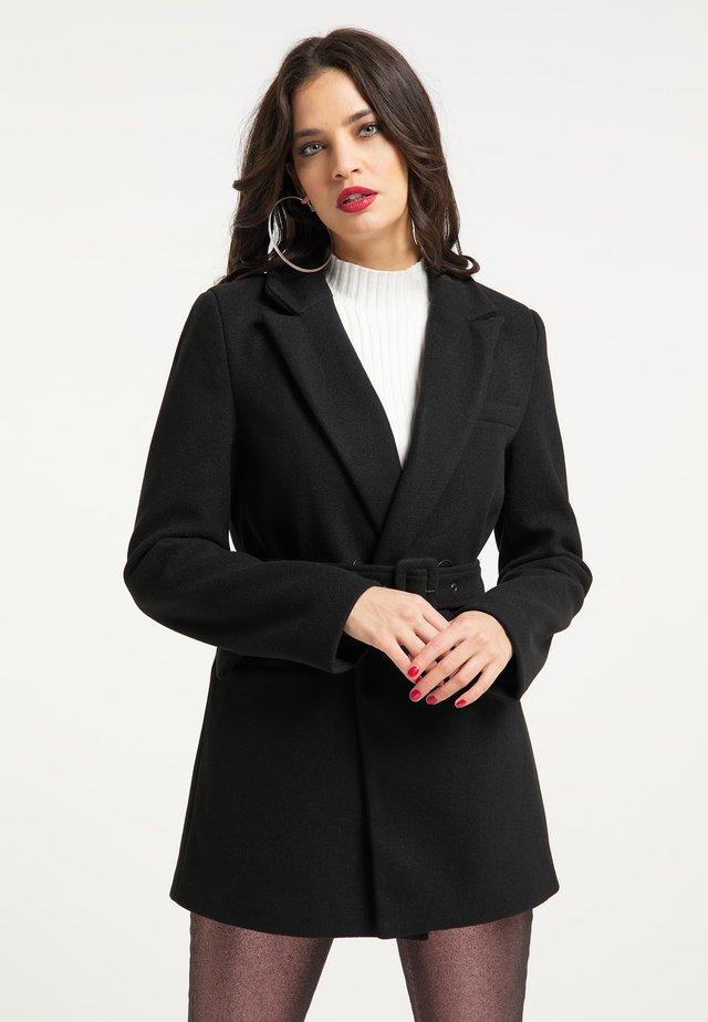 Halflange jas - schwarz