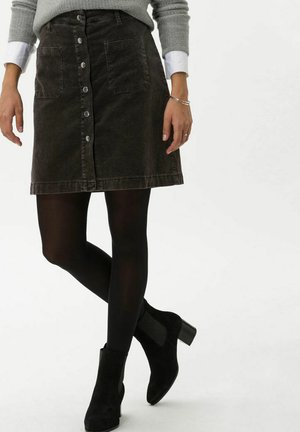 STYLE KIM - A-line skirt - faded espresso