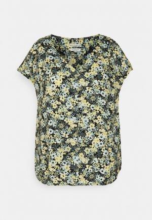 BLOUSE WITH SHOULDER PLEATS - Print T-shirt - multicolor
