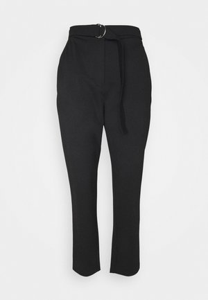 MILANO PAPERBAG PANT - Trousers - black