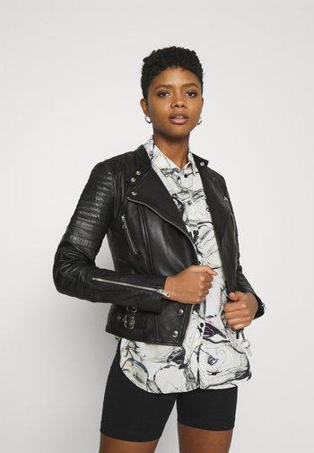 L-IGE-NEW-A - Leather jacket - black
