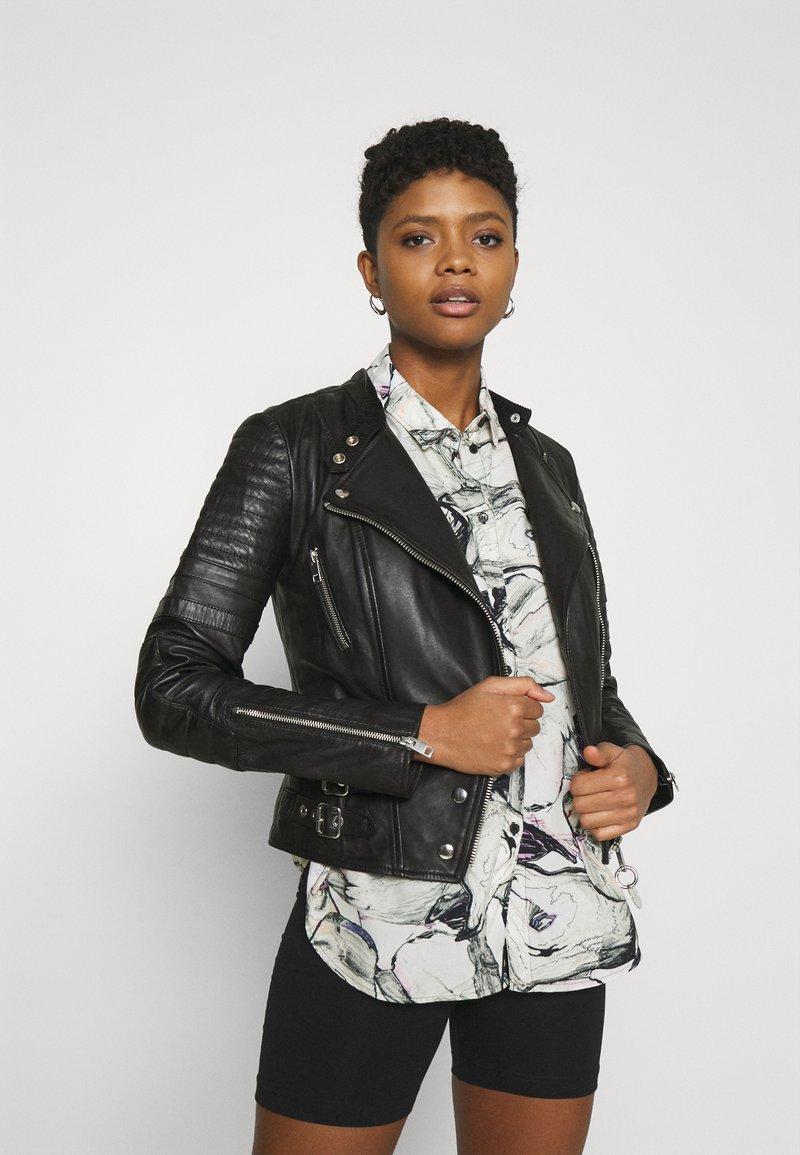 Diesel - L-IGE-NEW-A - Leather jacket - black