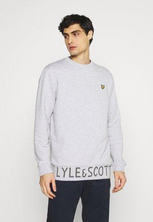 BOTTOM BRANDED CREW NECK - Sweatshirt - light grey marl
