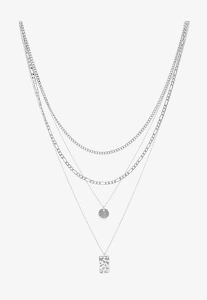 PCOKIA COMBI NECKLACE - Smykke - silver-coloured