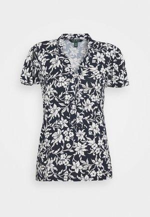 SLEEK - Print T-shirt - navy