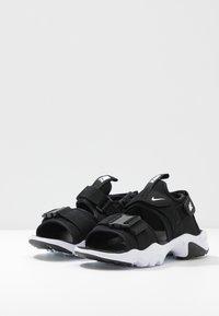 Nike Sportswear - CANYON SLIDE - Sandalias - black/white - 5