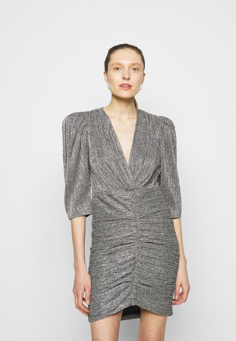 Iro - CLUZCO - Shift dress - black/silver