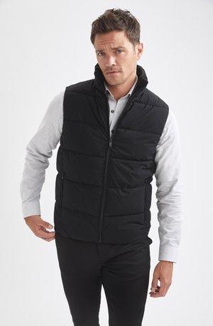 SLIM FIT - Waistcoat - black