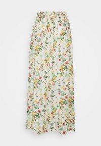 Object Tall - OBJLORENA LONG SKIRT  - Maxi sukně - sandshell/alba - 1