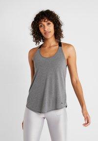 Nike Performance - DRY TANK ELASTIKA - Sports shirt - dark grey/heather/black - 0