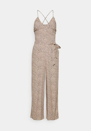 SMOCKED BODICE  - Jumpsuit - brown