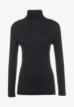 SOLID TURTLENECK - Jersey de punto - black