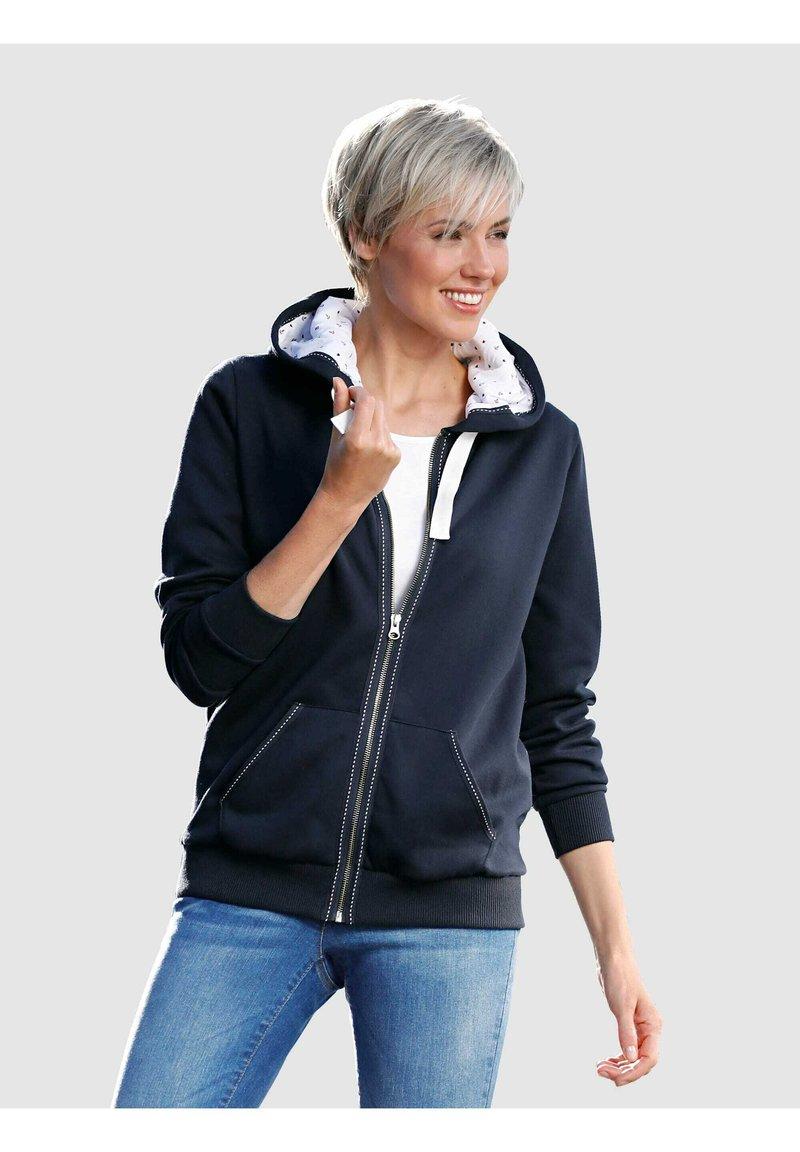 Dress In - Zip-up sweatshirt - marineblau